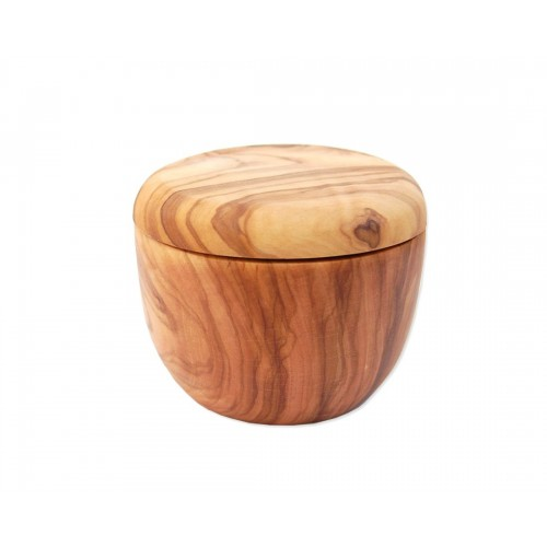 Olive Wood Shaving Dish with Lid for Shaving Soap | D.O.M.