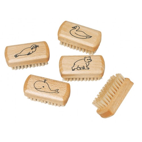 Children's Nailbrush beechwood with motif | Redecker