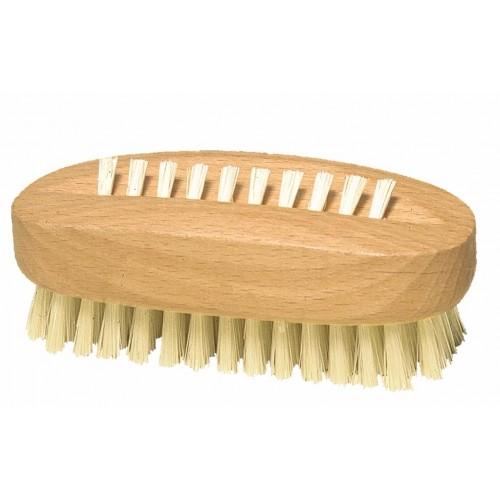 Ovale Nagelbürste aus gewachstem Buchenholz