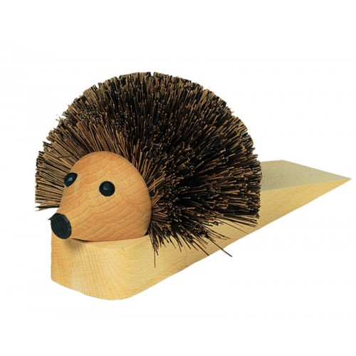 Hedgehog Door Stop of Beechwood & Bassine