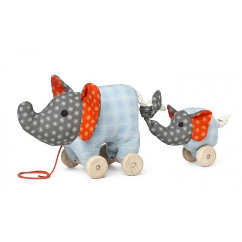 Pull Toy Elephant Noma of Certified Organic Cotton