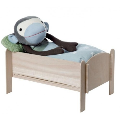 Wooden Doll Bed for Monkey & Soft Toy   Franck & Fischer