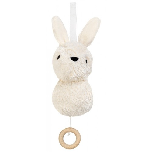 Aura, white Rabbit, organic cotton Musical Toy | Franck & Fischer