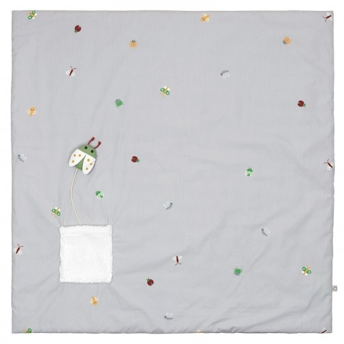 """Pusling """"Bug"""" Play Mat and Organic Baby Blanket 