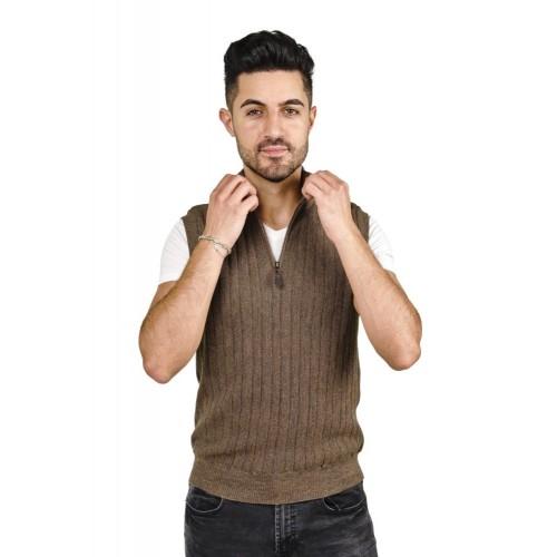 Alpaca Sweater Vest Harry, 100% Baby Alpaca for Men   AlpacaOne