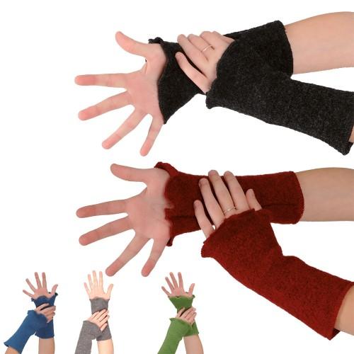 Women's Organic Wool Crepe Fabric Arm Warmers   Reiff