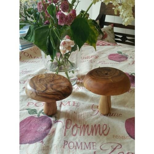 Decorative Mushroom Figure made of Olive Wood 2 pcs | D.O.M.