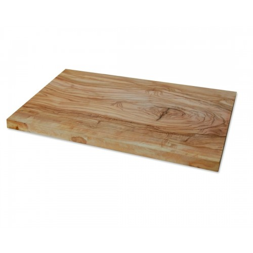 Rectangular olive wood cutting board with anti-scratch protectors | D.O.M.
