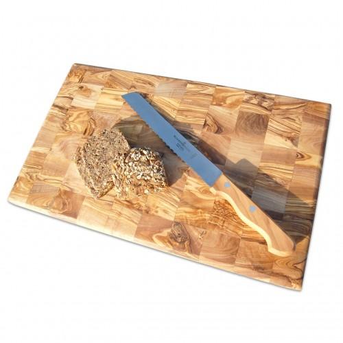 Cutting and Chopping Board - cross-cut olive wood | D.O.M.
