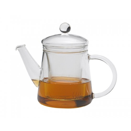 Teapot PUCK 0.4 l with Lid and Glass Strainer | Trendglas Jena