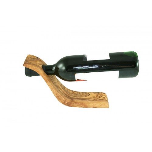 Wine Bottle Holder WAVE of Olive Wood | Olivenholz erleben