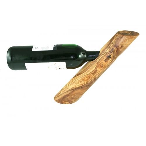 Wine Bottle Holder TRUNK of Olive Wood   Olivenholz erleben
