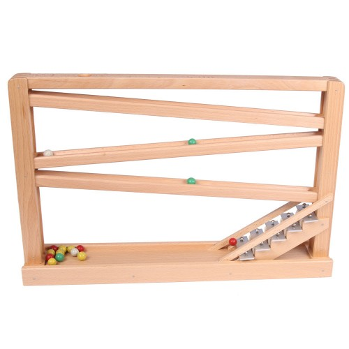 Kugelbahn Buchenholz mit Glockenspiel