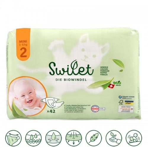 Swilet Organic Nappies Mini 3-6Kg size 2