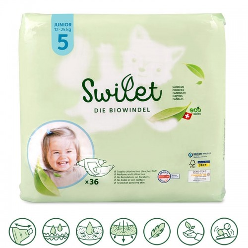 Toddler's Organic Nappies Junior 12-25Kg » Swilet