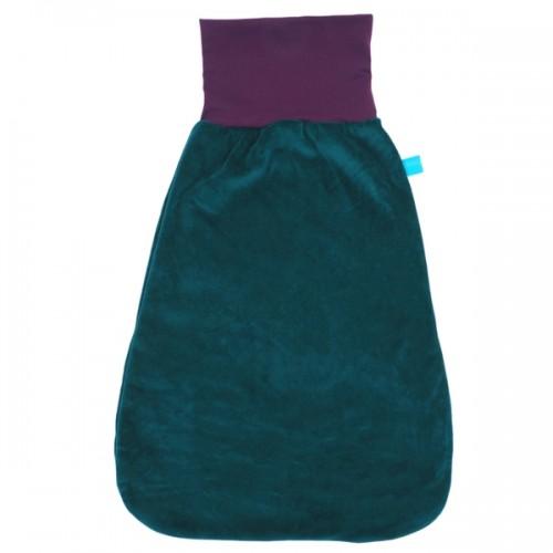 Eco Cotton Swaddle Wrap Teal/Aubergine | bingabonga