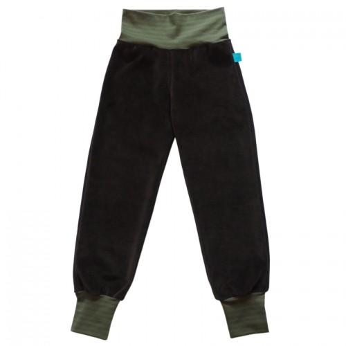 Unisex Cosiness Trousers brown organic cotton, ringed waistband | bingabonga