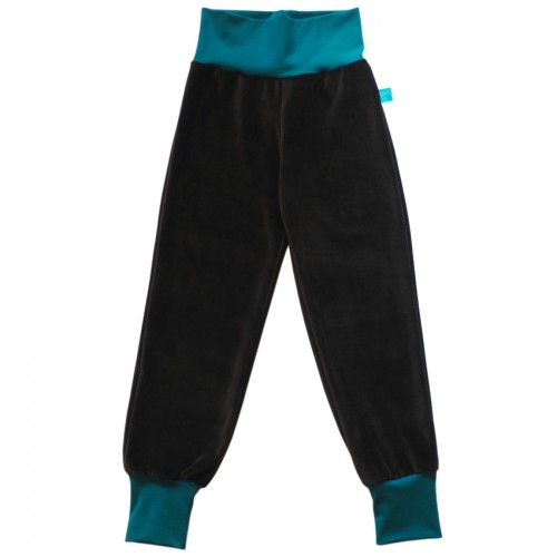 Unisex Cosiness Trousers Brown/Emerald Eco Cotton | bingabonga