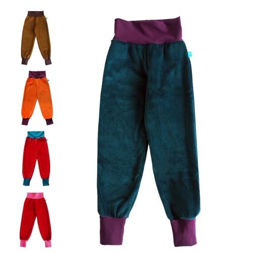 Kids active joggers organic cotton plush plain & colourful waist » bingabonga