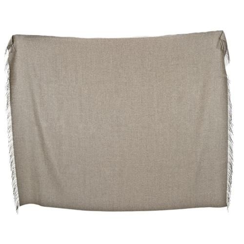 Plain Wool Blanket Lolita with fringes, 100% Baby Alpaca   AlpacaOne