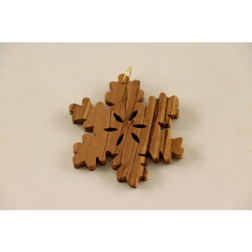 Advent ornaments »Snowflake« of olive wood | D.O.M.