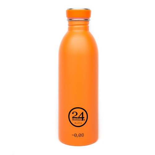 Stainless Steel Drinking Bottle 0.5L total orange | 24Bottles
