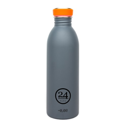 Stainless Steel Drinking Bottle 0.5L grey | 24Bottles
