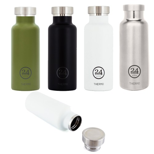 THERMO Drinking Bottle Stainless 0.5L various colours | 24Bottles