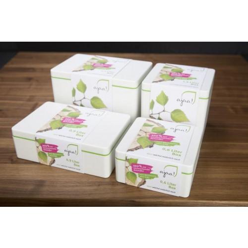 Eco food storage box of bioplastic 1400 ml | ajaa!