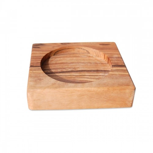 Olive Wood Coaster for small vessels & bowls & spice jars | D.O.M.
