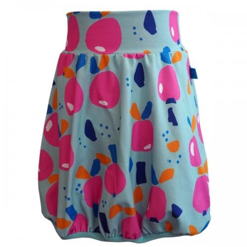 Bubble Skirt Apple Print, Organic Cotton » bingabonga