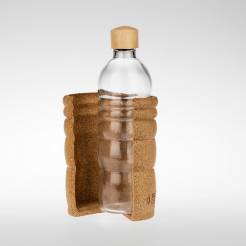 Nature's Design Lagoena Glass Bottle with natural cork shell