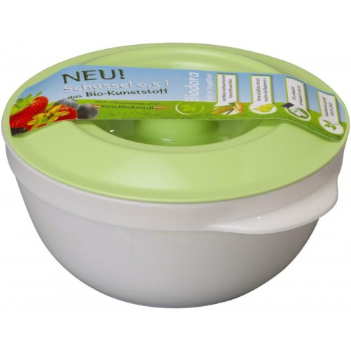 Bowl with lid for 0,5 l – bioplastics