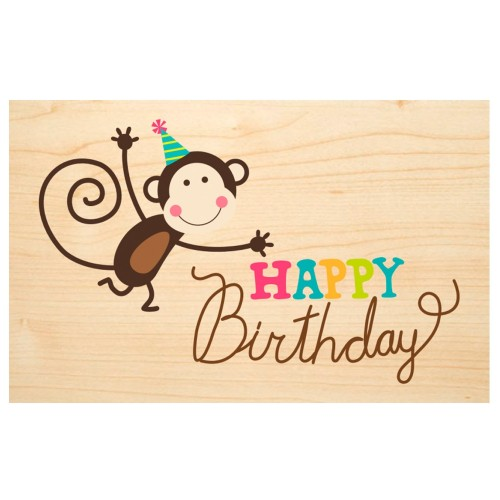HAPPY Birthday wooden postcard back - Say it with Nature | Biodora