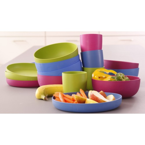 ajaa! Eco Kids Dishes Trio (Cup, Bowl, Plate) - various colours