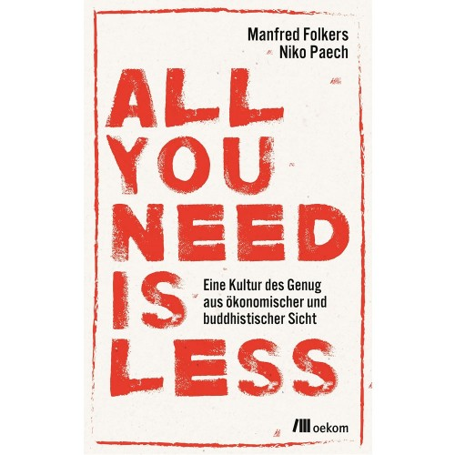 All you need is less - German eco book | oekom publisher