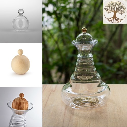 Nature's Design Carafe Alladin Tree of Life gold & various tops