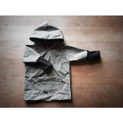 Windproof all-weather Baby Jacket, EtaProof Organic Cotton, olive   Ulalue
