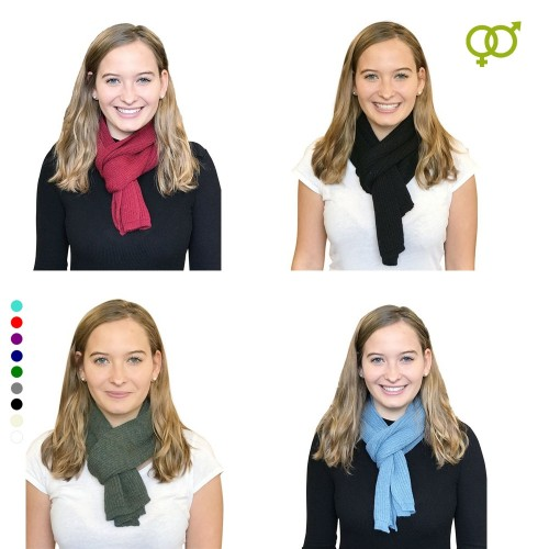 Alpaca Business Scarf, unisex knit scarves various colours | Albwolle