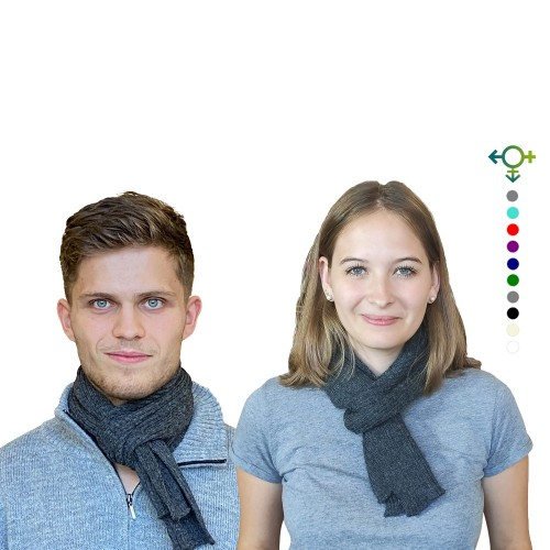 Alpaca Business Scarf, unisex knit scarf anthracite | Albwolle