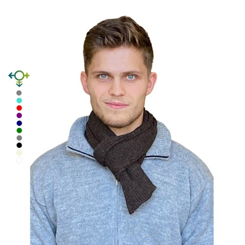 Alpaca Business Scarf, unisex knit scarf brown | Albwolle