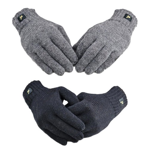 Full-fingered Gloves Nevada, 100% Baby Alpaca plain | AlpacaOne