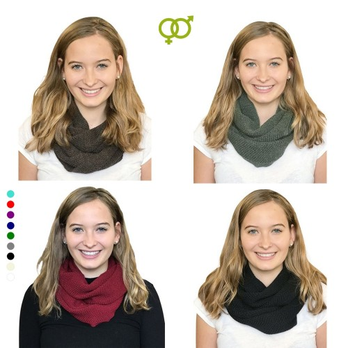 Alpaca Loop Scarf, Unisex Round Scarf for women & men | Albwolle