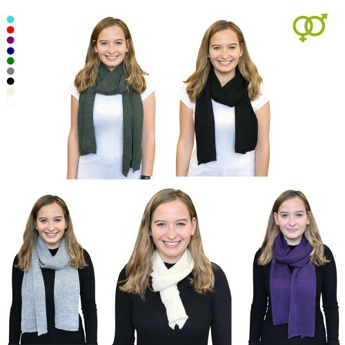 Alpaca Long Scarf, unisex knit scarf for women & men | Albwolle