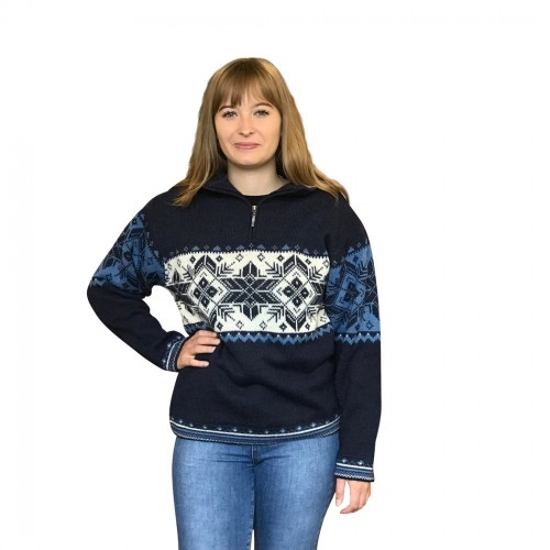 Stockholm Alpaca Women's Norwegian Sweater | Albwolle