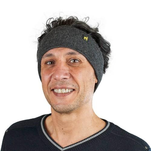 Alpaca Headband Malbun Slim Anthracite | AlpacaOne