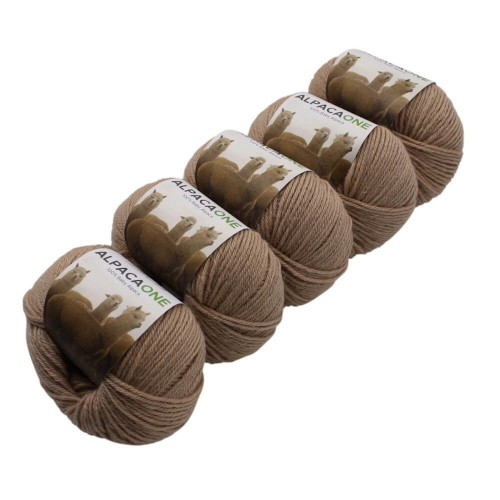 Alpacaone Baby Alpaca wool ball 5 pack Champagne, OEKO-TEX