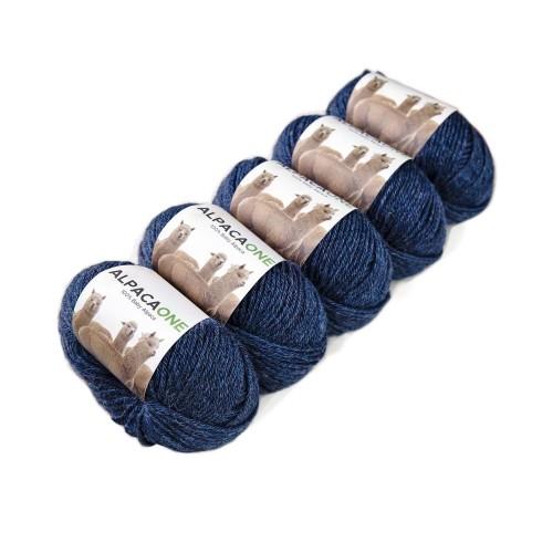 Alpacaone Baby Alpaca wool ball 5 pack denim blue, OEKO-TEX