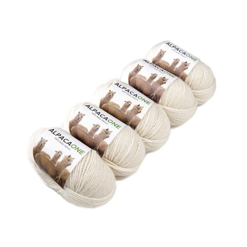 Alpacaone Baby Alpaca wool ball 5 pack natural, OEKO-TEX