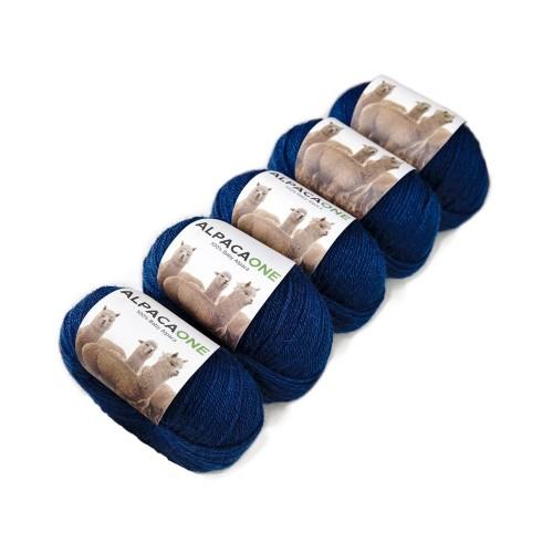 Alpacaone Baby Alpaca wool ball 5 pack petrol blue, OEKO-TEX